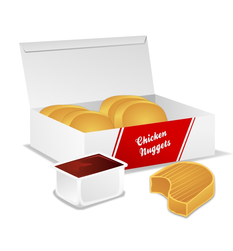 clipart of chicken nuggets - photo #8