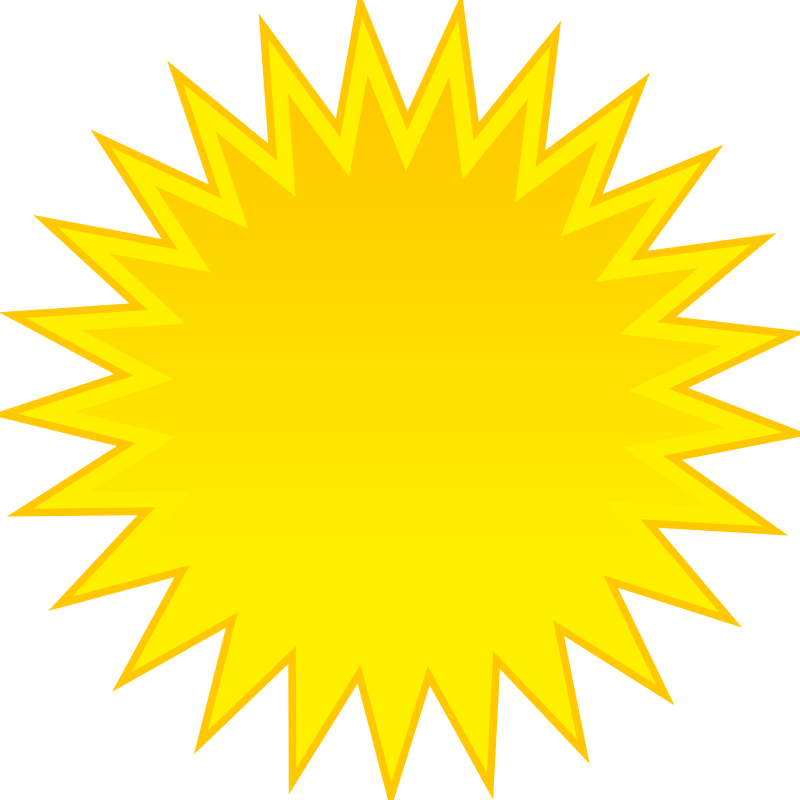 sun by spite - for weather application or map