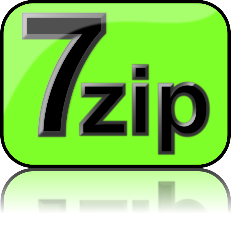 7zip Glossy Extrude Green by kg - 7-Zip is a file archiver with a high compression ratio and 7-Zip is open source software that supports (reads and writes) many poplar archive formats (zip, rar, 7zip, iso). The current recommended version is 7-Zip 9.22 beta.
