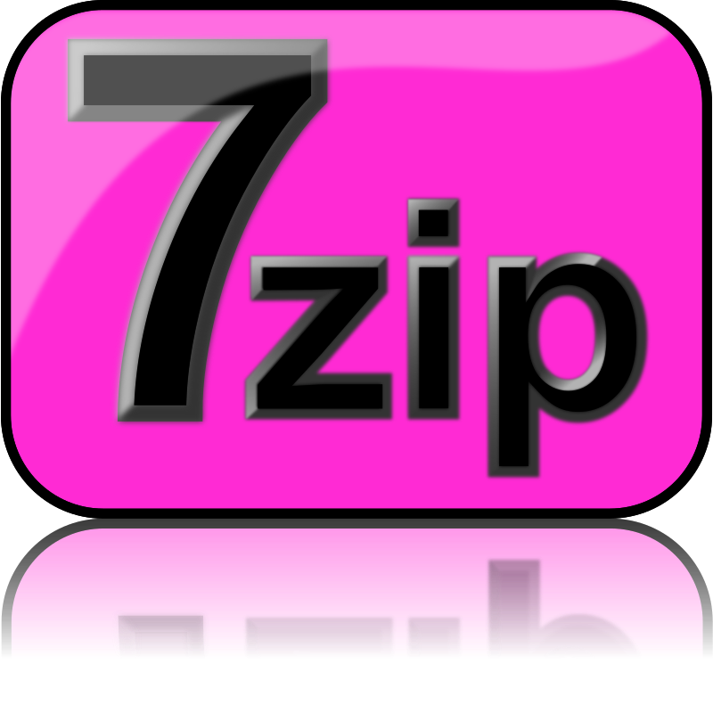 7zip Glossy Extrude Magenta by kg - 7-Zip is a file archiver with a high compression ratio and 7-Zip is open source software that supports (reads and writes) many poplar archive formats (zip, rar, 7zip, iso). The current recommended version is 7-Zip 9.22 beta.
