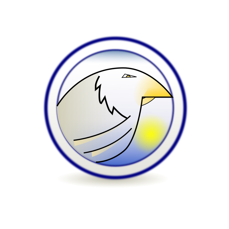 Eagle_Server by snid - Logo of the Server Eagle, product of a Stefano Nicolas's adaptation of Linux Operarive System, called YeNiUx.