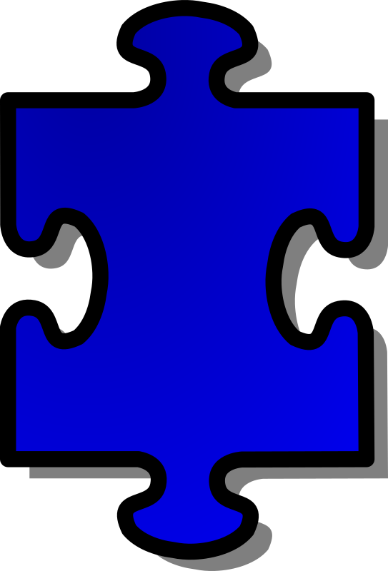 Blue Jigsaw piece 01 by nicubunu