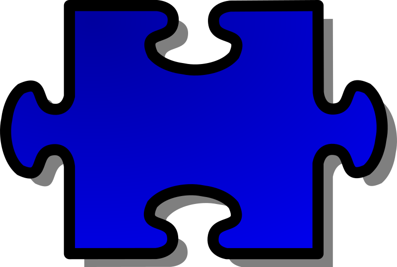 Blue Jigsaw piece 02 by nicubunu