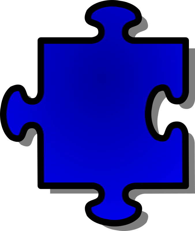 Blue Jigsaw piece 07 by nicubunu