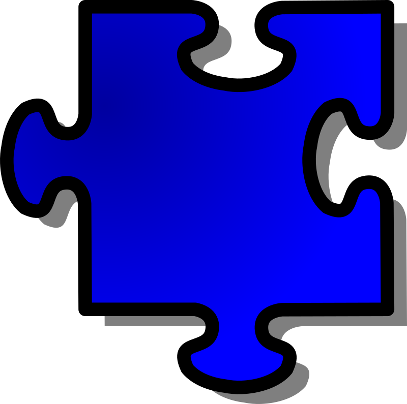 Blue Jigsaw piece 11 by nicubunu