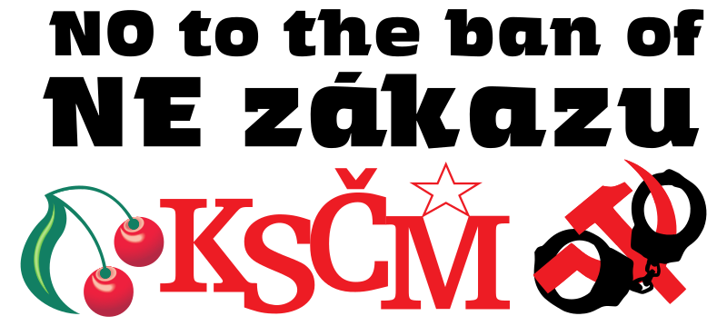 NE ZÁKAZU KSČM, NO BAN OF KSČM by worker