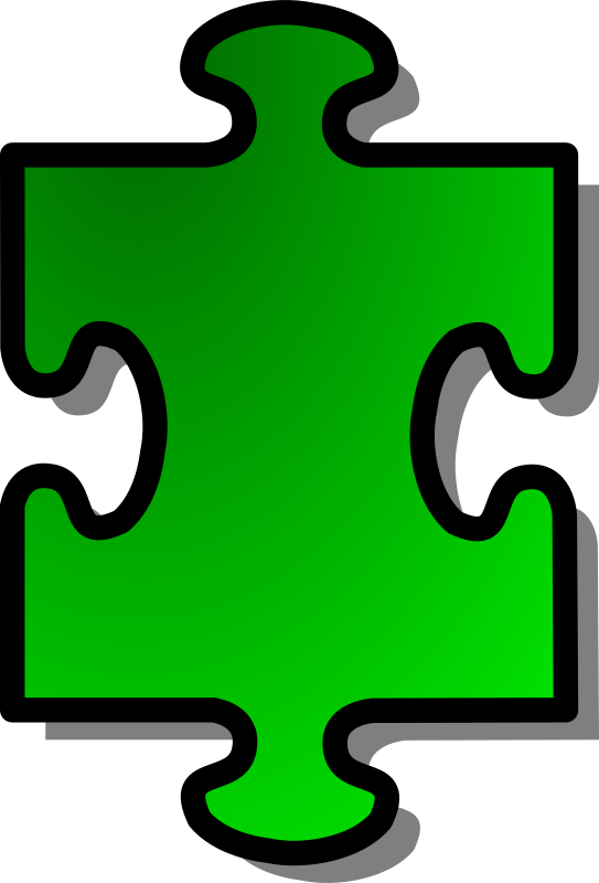 Green Jigsaw piece 01 by nicubunu