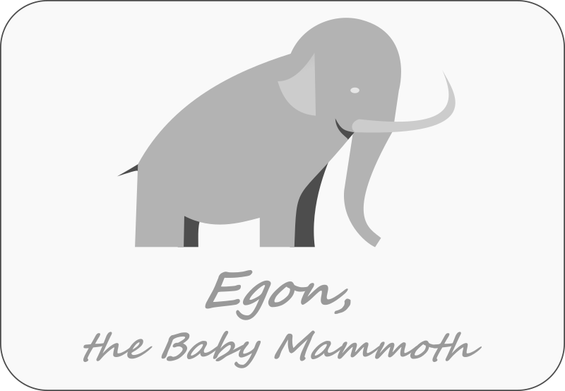 Baby Mammoth by forestgreen - Egon, the Baby Mammoth