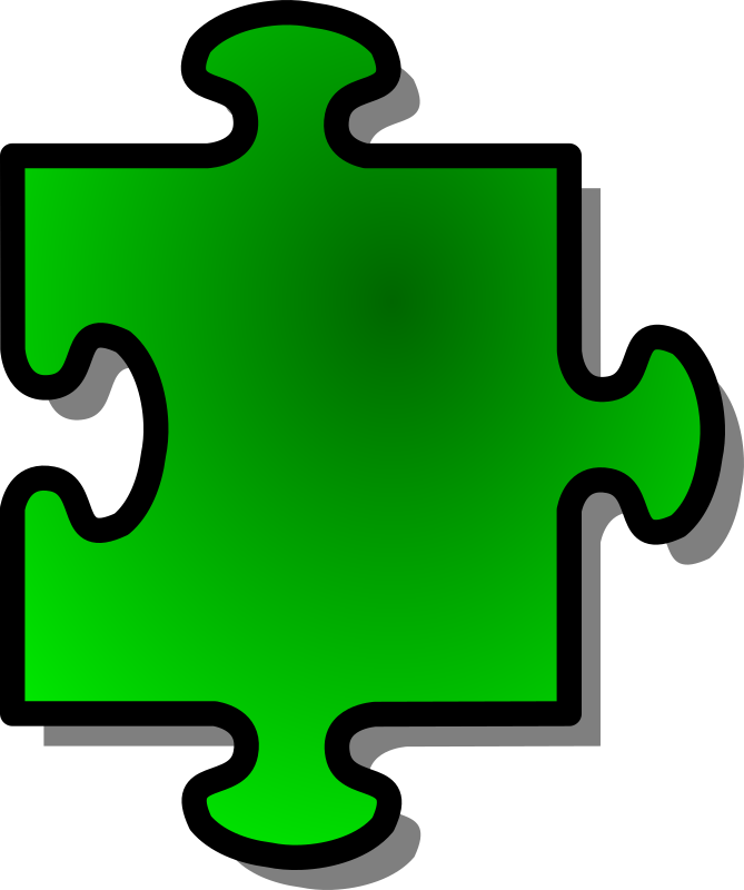Green Jigsaw piece 05 by nicubunu