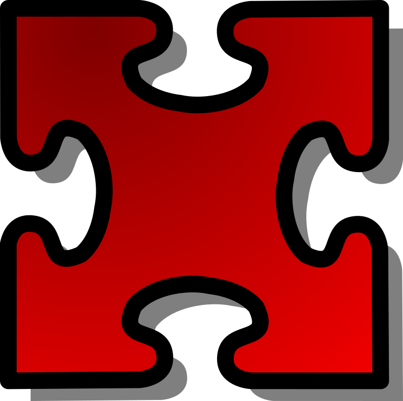 Red Jigsaw piece 03 by nicubunu