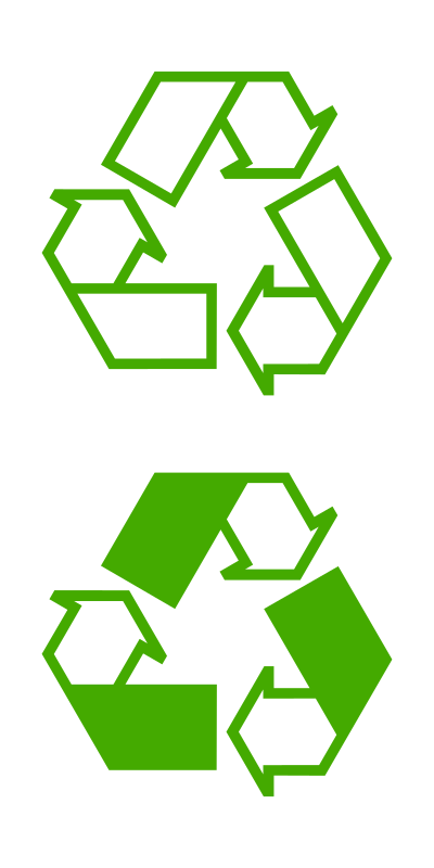 recycle icons by molumen
