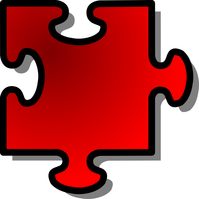 Red Jigsaw piece 10 by nicubunu