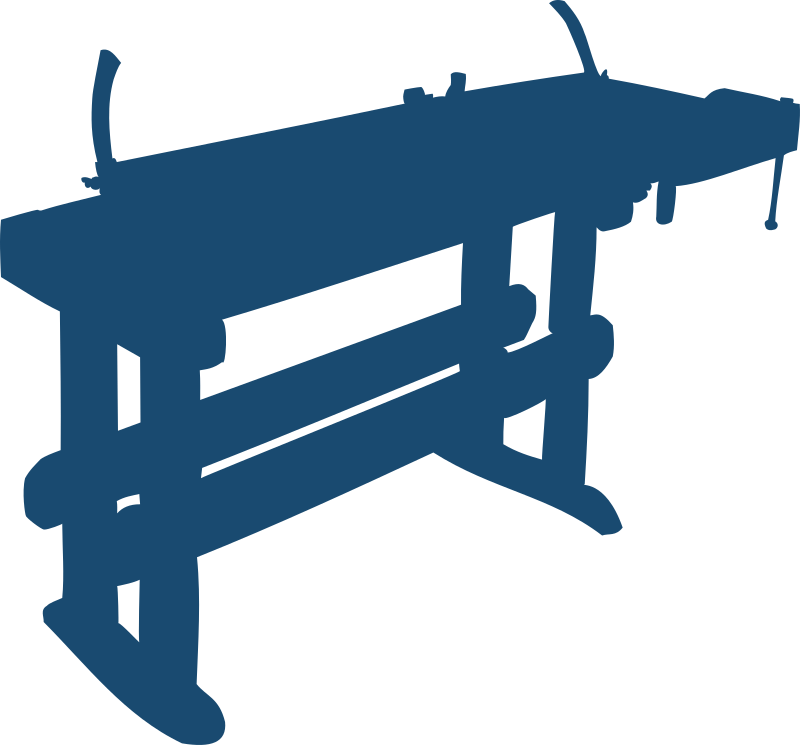 Work bench by Moini - Silhouette of a work bench.