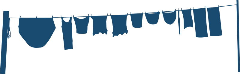 Clothes line by Moini - Silhouette of a clothes hung up on a clothes line with some quite big panties... :-)