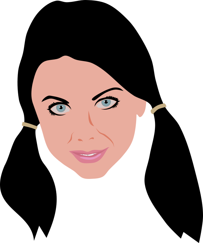 Beauty face clipart