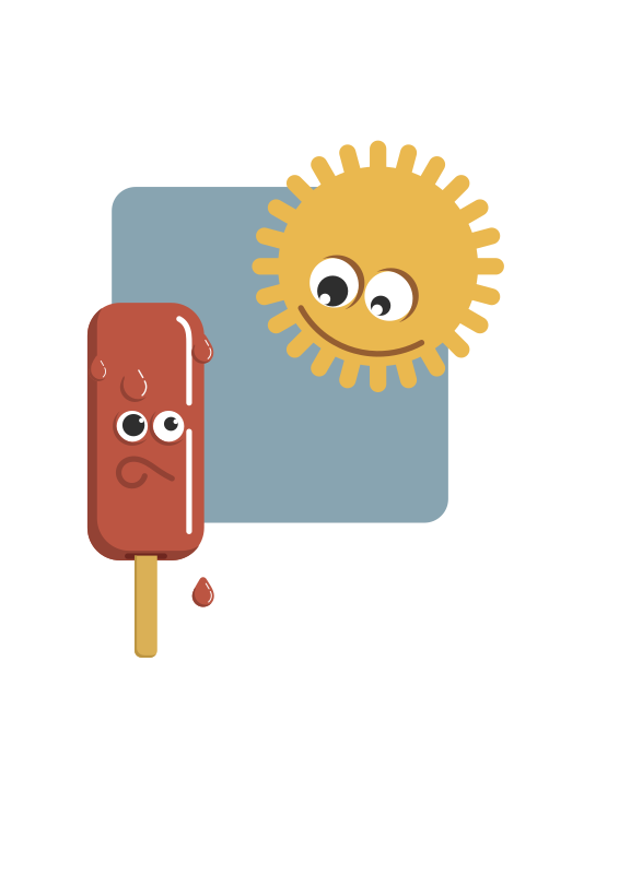 Popsicle and the sun by PrinterKiller - Popsicle and the sun