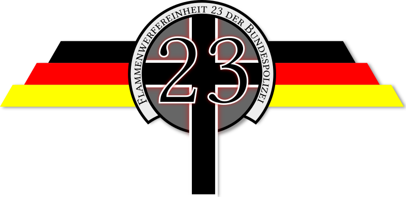 Flame Thrower Police Squad 23 Logo by flamethrowerpolice - Fictional logo for a police squad