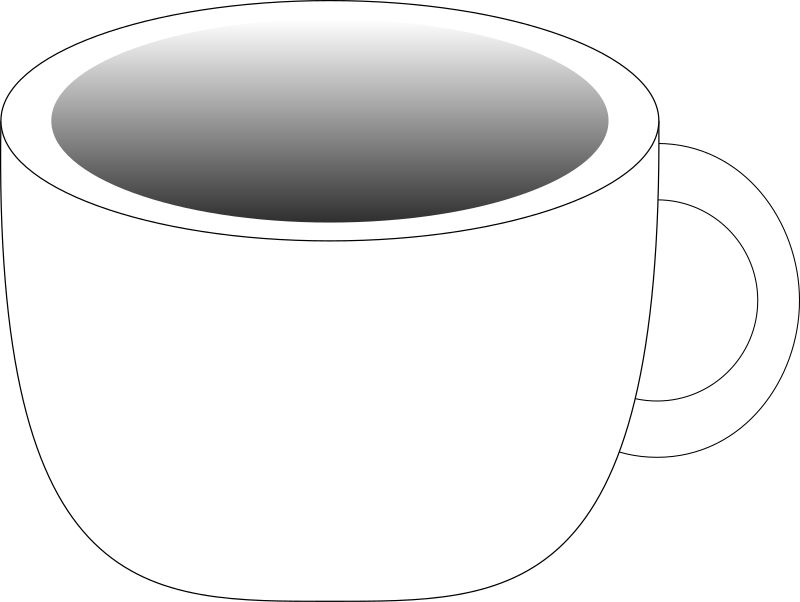 Cup containing a dark beverage by DynV - Simple rounded cup with a dark gradient in the containing part.