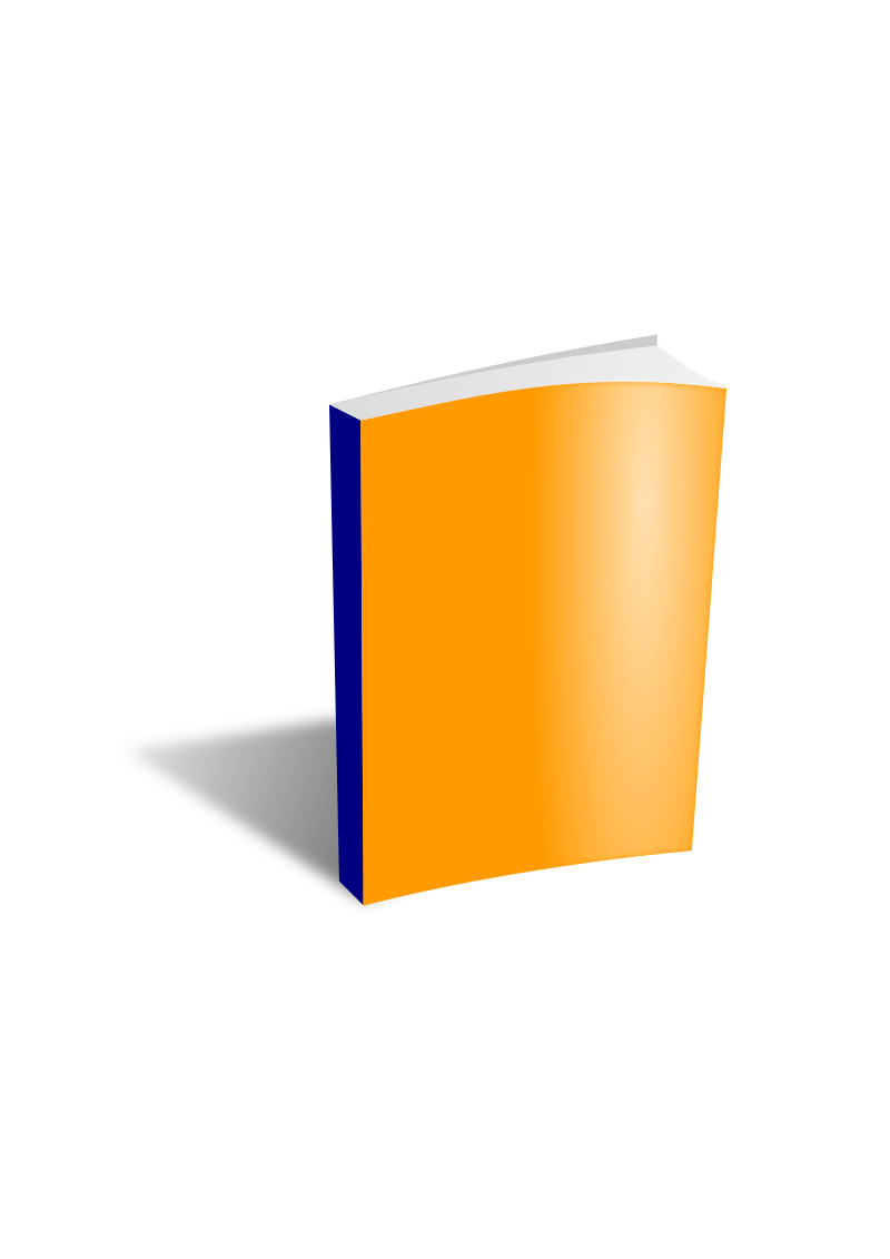 Clipart - Book Orange