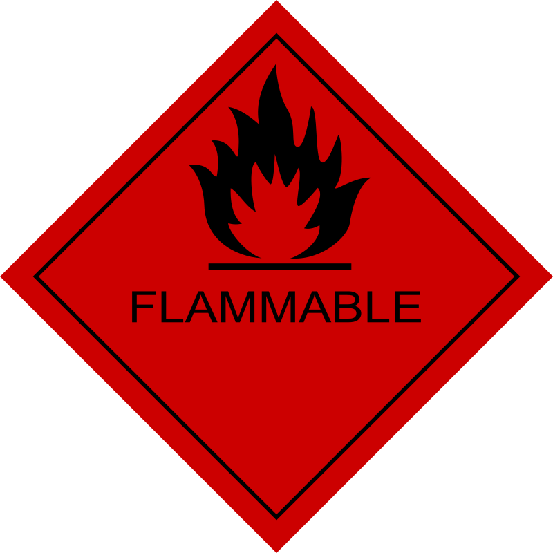 Flammable Sign by boobaloo - Remix of cool 'worker' submission