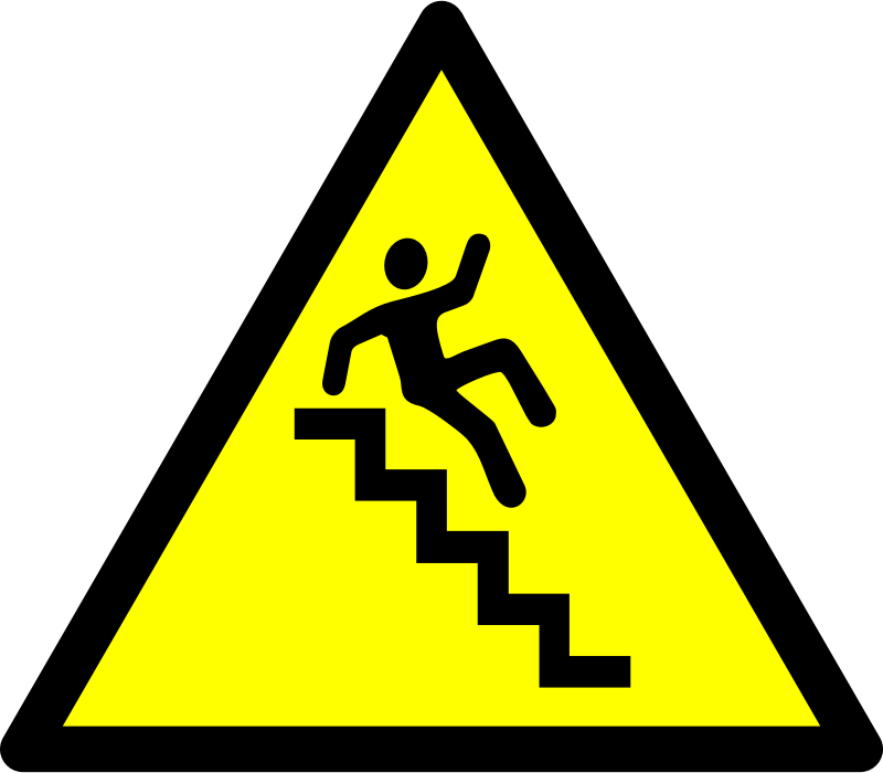 Clipart - Caution - Stairs!