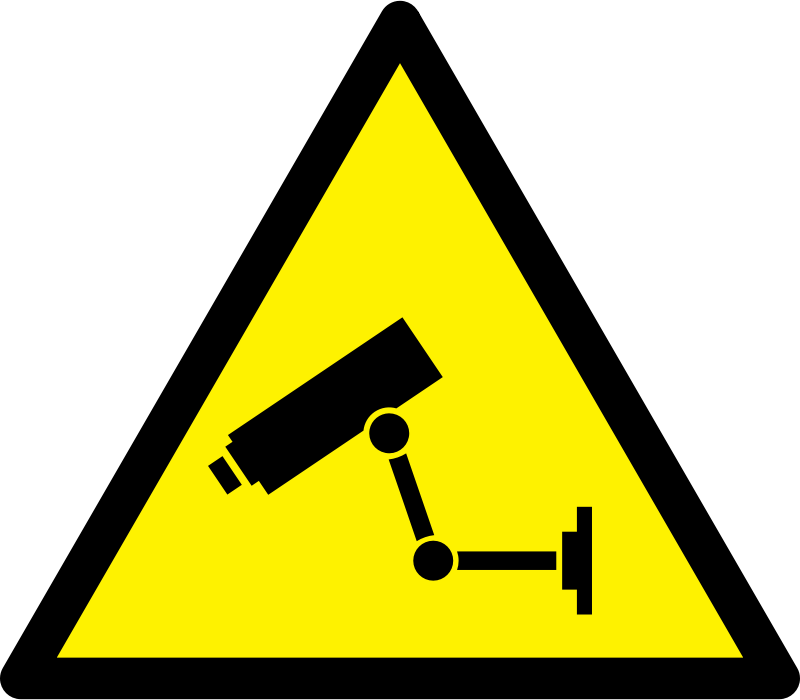Caution CCTV by boobaloo -