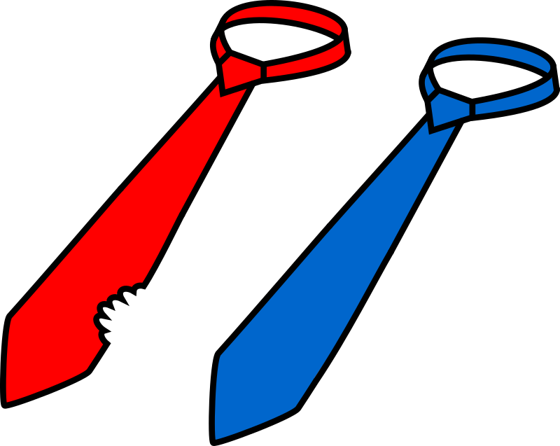 Two ties (president's lunch) by boobaloo - Two ties — whole and bitten one.