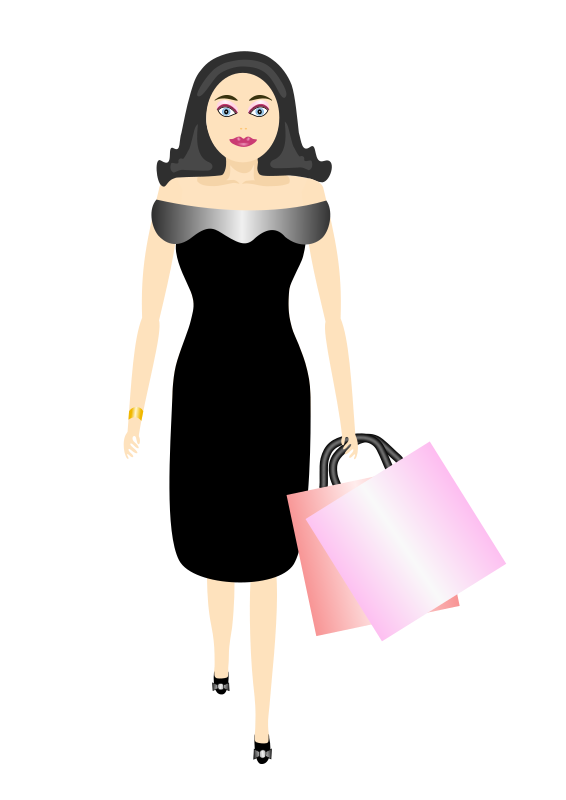 glamour girl shopping by Artmaker - glamour girl shopping