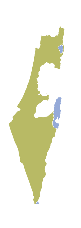 Israel by worker - israel map from 1967
