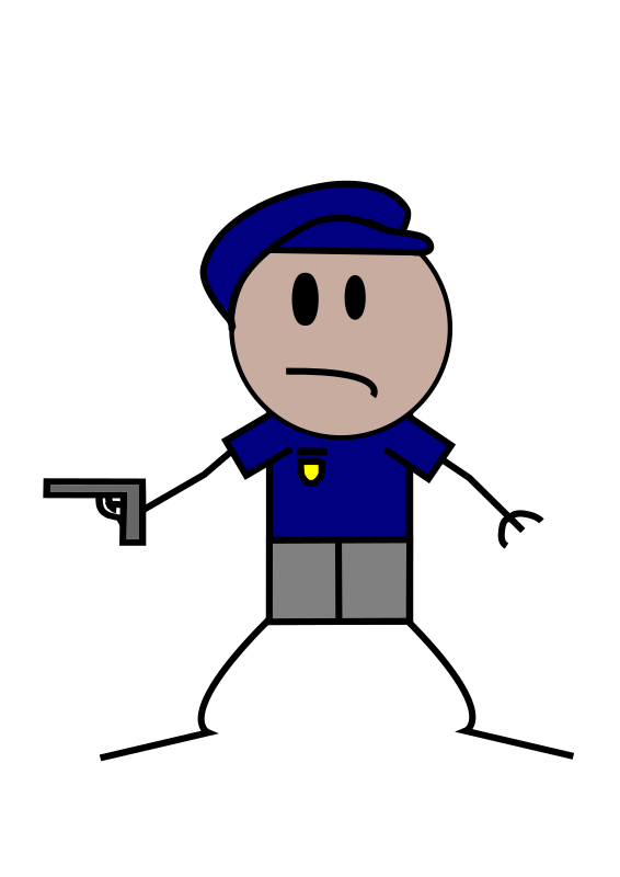 Police Stick Figure by Lil_Mermaid_Girl - A police officer stick figure person.