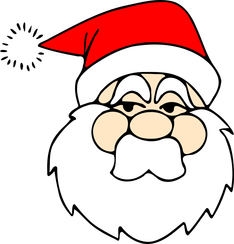 Santa line art by zeimusu - sourced from