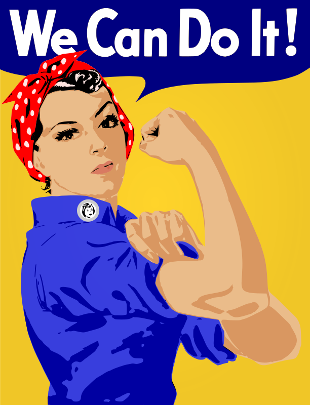 "We Can Do It! Poster by worker - An old style worker poster of a lady factory worker saying ""We Can Do It!"""
