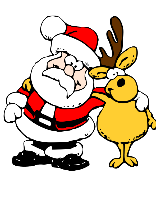 Santa and Reindeer by zeimusu - sourced from