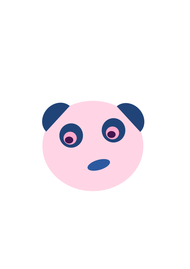 Blue Panda Face by Lil_Mermaid_Girl - A simple panda face.