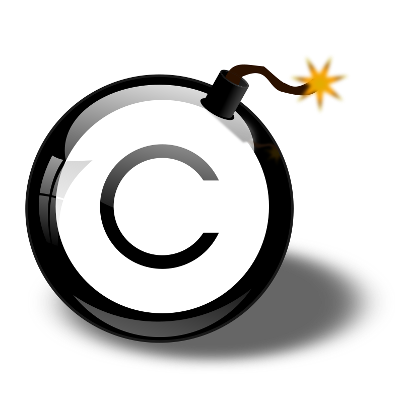 Copyright Bomb by cliparteles - The Copyright Bomb, just a strange concept