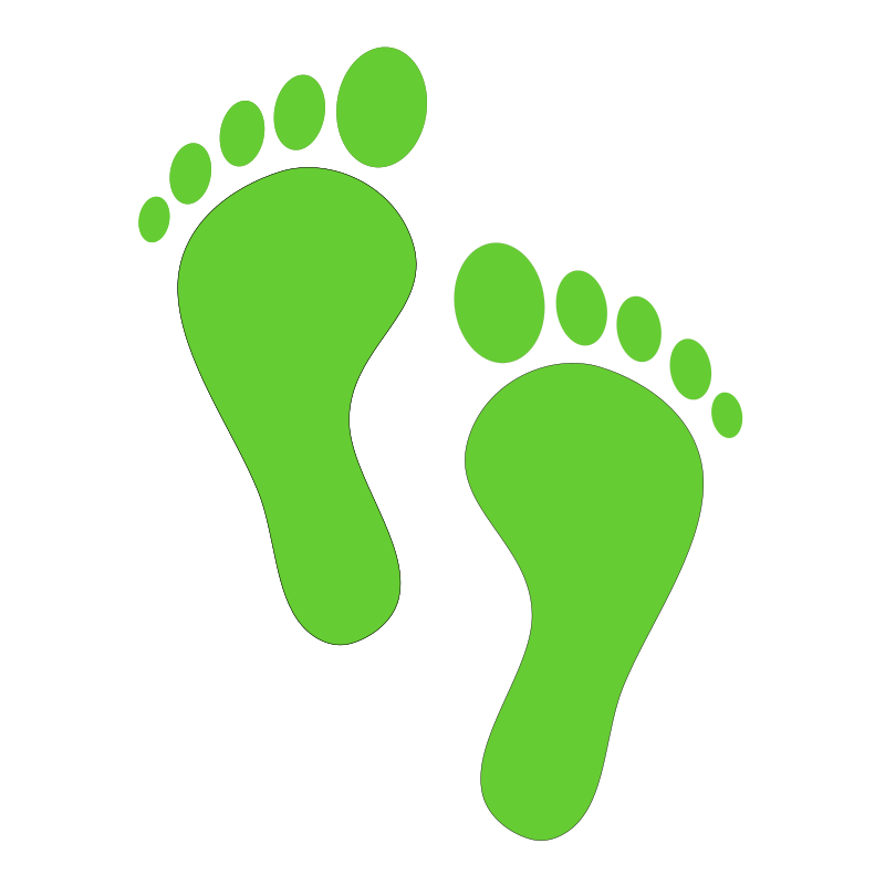 Clipart - green steps