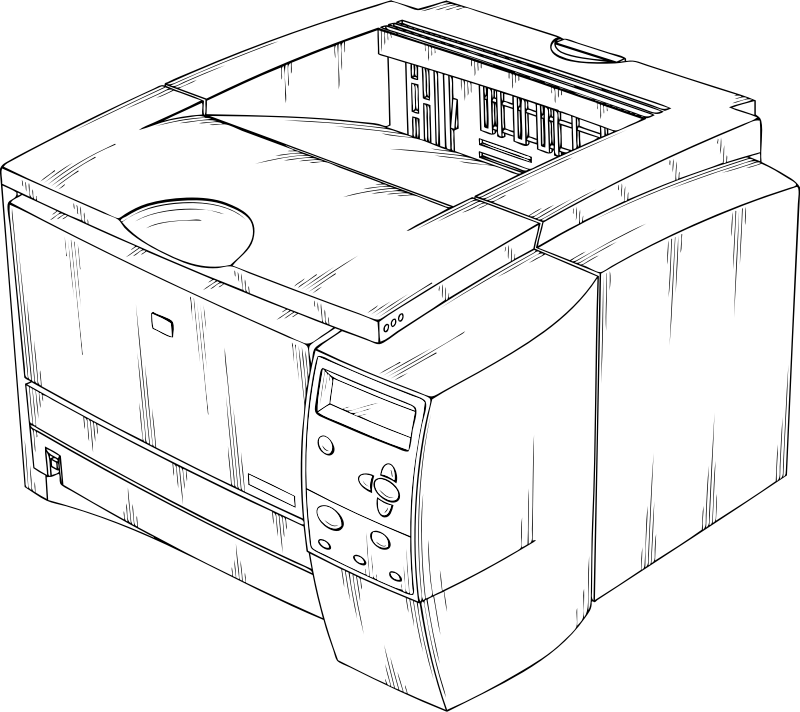 laser printer by johnny_automatic - a drawing of a laser printer from a U.S. Patent illustration