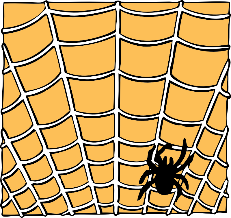 spider on a spider web by johnny_automatic - a spider and spider web from a US Patent illustration