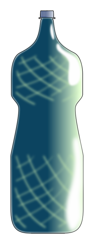 blue water bottle by cprostire
