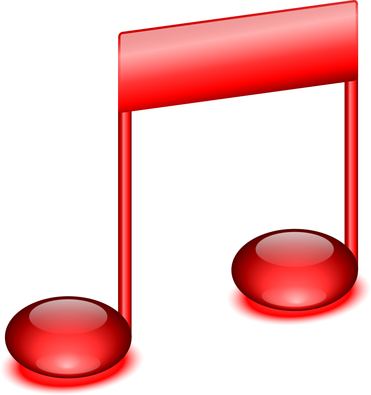 Music note icon by jhnri4 - A red music note icon.
