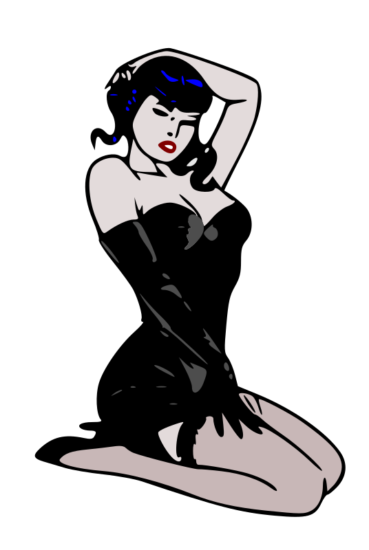 Pin-up blue by liftarn - Pin-up in classic style. Based on http://commons.wikimedia.org/wiki/Image:Pin-up_blue.png