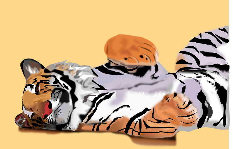 Tiger by basica - Lazy tiger
