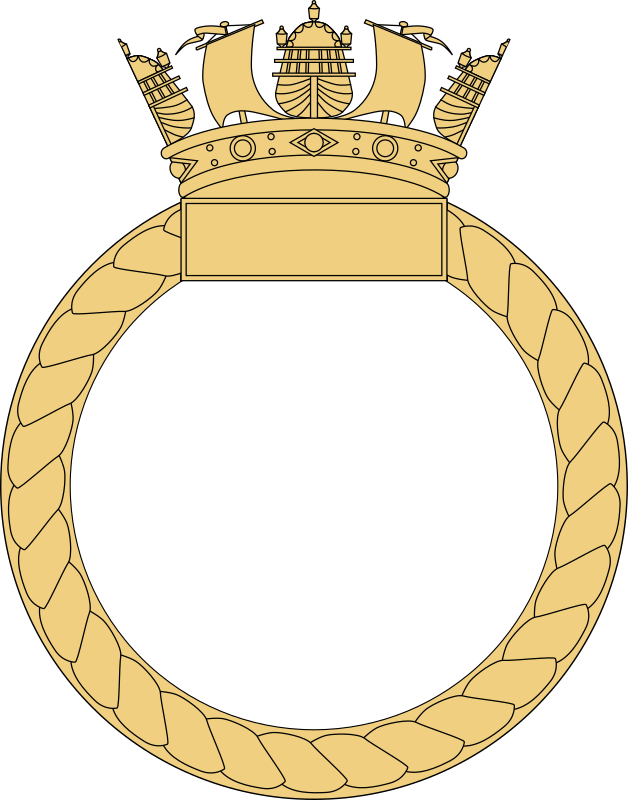 Ship's Badge by Caggles - Blank outline for a Royal Navy ship's crest.