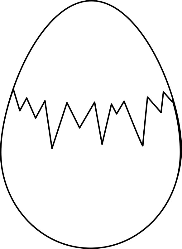 Clipart - Easter egg (white whith fracture)