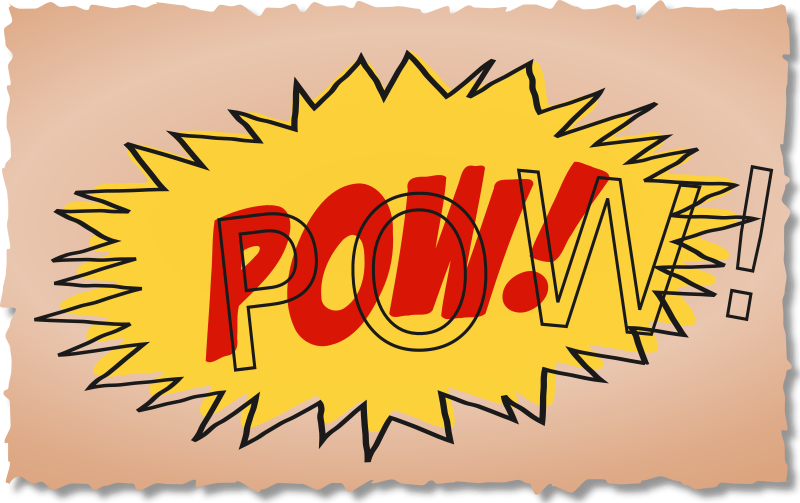 POW Comic Book Sound Effect by studio_hades