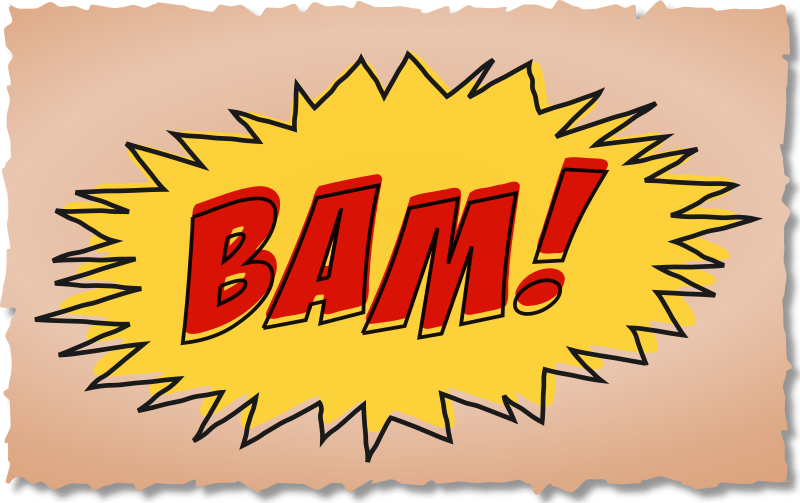 BAM comic book sound effect by studio_hades