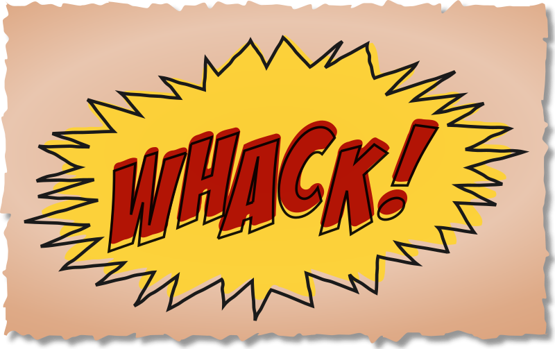 Whack comic book sound effect by studio_hades - Its Whack this time, in the same style as the others.