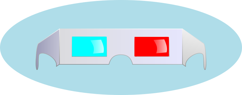 3D Glasses by studio_hades - Old style blue  and red paper glasses from the mid 50's.