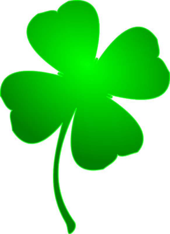 Clipart - Irish Lucky Clover