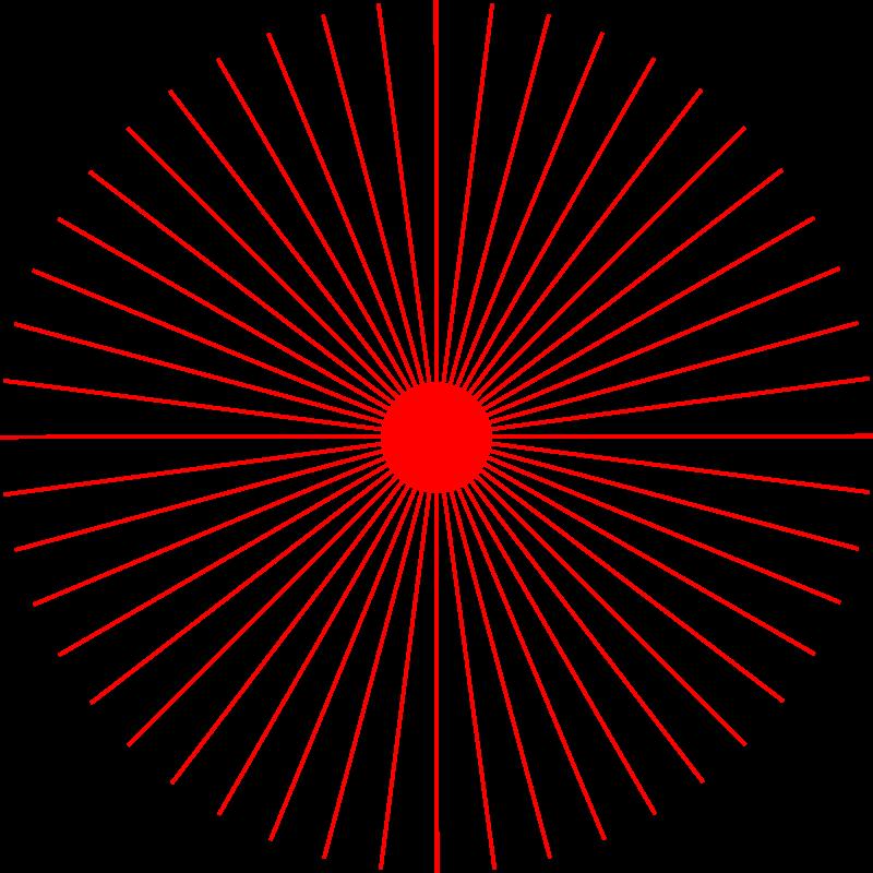 Clipart - abstract sun 2 (48 rays)